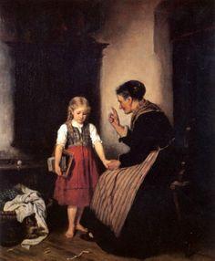 Admonition Of The Grandmother. Rudolf Epp (1834 – 1910, German)