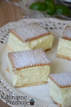 Easy Cake Recipes, Sweet Recipes, Baking Recipes, Cookie Recipes, Dessert Recipes, Vanilla Magic Custard Cake, Vanilla Cake, Polish Recipes, Food Cakes