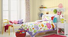 Target bloom bedding with Benjamin Moore hot cakes paint
