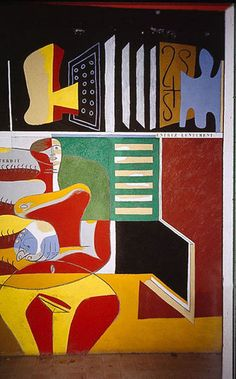 One of eight murals painted by Le Corbusier on the walls for E-1027 in the late '30s.