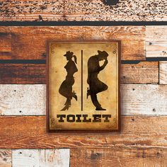 Toilet Sign Wood Sign Door Sign Funny Sign Decor by SugarPalm