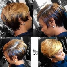 Love this hair color. Cute Hairstyles For Short Hair, Black Girls Hairstyles, Short Hair Cuts, Short Hair Styles, Short Hair Hacks, Beautiful Hairstyles, Short Pixie, African Hairstyles, Braided Hairstyles