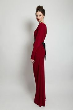 PLEATED COWL NECK FULL LENGTH DRESS  395.00 Cowl Neck Pleated Full Lenght Dress.  Material: Jersey Cowl Neck, Aw 2014, High Neck Dress, Collection, Dresses, Fashion, Turtleneck Dress, Vestidos, Moda
