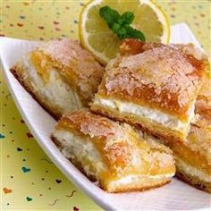 Lemon Cream Cheese Bars FOR THE CRUST 8 graham crackers (each 2 1/2 by 5 inches) 2 tablespoons sugar 3 tablespoons unsalted but...