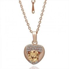 Rose of the Heart 18 Karat Gold Plated Necklace