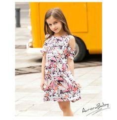 Summer kids' Chiffon flower green dress brand Children's causal Clothes Lovely Girls Dresses2