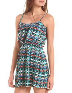 Ruffle Bust A-Line Dress: Charlotte Russe