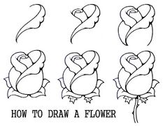 Daryl Hobson Artwork: How To Draw A Flower Step By Step