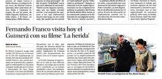 La noticia de la última sesión de 'Encuentros con el cine' en 'Diario de Avisos'.