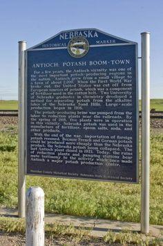Historical Marker at the Potash Ruins near Antioch, NE on Nebraska Highway 2 - photo courtesy of Nebraska Tourism