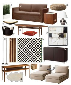Can you get a globally-chic living room, and make it all Ikea? I think yes.