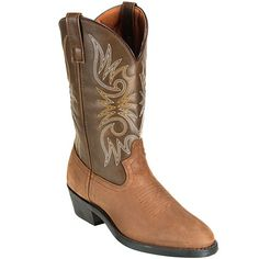 Laredo Boots: Men's Power Pack Tan Cowboy Boots 4242 #CarharttClothing #DickiesWorkwear #WolverineBoots #TimberlandProBoots #WolverineSteelToeBoots #SteelToeShoes #WorkBoots #CarharttJackets #WranglerJeans #CarhartBibOveralls #CarharttPants