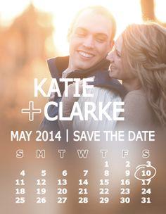 Save the Date | Calendar Save the Date Design | Joe R Geske Photography | Kansas Wedding Photographer |