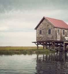 A solitary cabin near the Barrier Island of Virginia's Eastern Shore  #landscape #traveldeeper #photography
