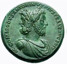 """The perfect ⁠coin: Commodus (assassinated on this day in 192 AD) depicted as Janus, god of new beginnings and transitions; the two faces of Janus look both to the future and the past. May the be an 'Optimus Maximus' decade for you all! Antique Coins, Old Coins, Rare Coins, Ancient Roman Coins, Ancient Rome, Ancient Art, Roman Gods, Greek Gods And Goddesses, Coin Worth"