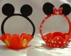 Porta doce/ bombom Minie e Mickey biscui