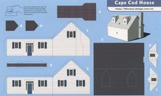 Cape Cod House - Cut Out Postcard | Flickr - Photo Sharing!