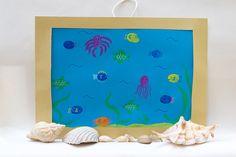 Fun Finger Paint Aquarium Activity - Little Fish