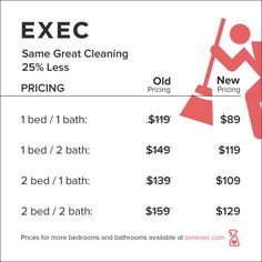 exec drops prices for its home cleaning service by 25 percent