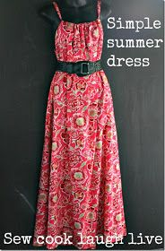maxi dress sewing tutorial. I think that I would make it knee length.