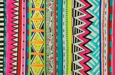vivid ayota aztec tribal native geometric pattern illustration vasare nar mac hipster fashion topshop trend 2013 summer autumn hipster neon textile tumblr hip graphicDesign artist society6