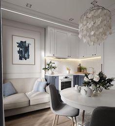 Scandinavian Dining Room Design: Ideas & Inspiration - Di Home Design Interior Desing, Apartment Interior Design, Home Interior, Small Living Rooms, Home Living, Living Room Decor, Living Room Heater, Painted Interior Doors, Interior Paint