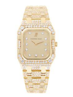 Audemars Piguet Yellow Gold Rectangular De Luxe Watch, 28mm by Audemars Piguet at Gilt