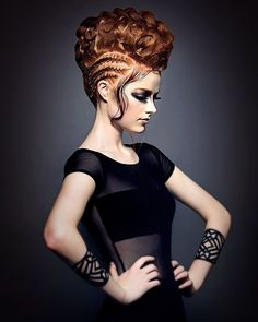 The bigger the hair the better! art Hair by Jennie Smullen and Ciaran dowd Photography by Lee Mitchell - Bangstyle Creative Hairstyles, Up Hairstyles, Braided Hairstyles, Fantasy Hairstyles, Ethnic Hairstyles, Headband Hairstyles, Crazy Hair, Big Hair, Avant Garde Hair