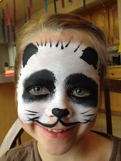 Panda - Face Painting by Jennifer Van Dyke