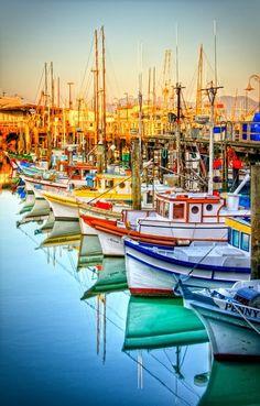 Pescadores de Wharf, San Francisco e o belo ponto de vista de um fotógrafo...   Simplesmente belo!