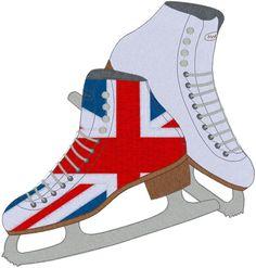 Union Jack Ice Skates