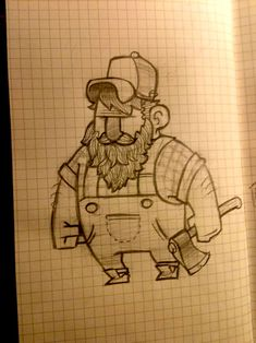 Lumberjack: need to learn how to draw this