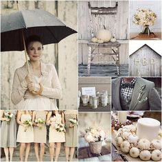 i love this whitewashed autumnal wedding board