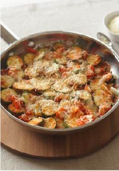 Skillet Parmesan Zucchini – This delicious recipe is ready in just 25 minutes! Serve with grilled lean meat and fresh fruit for an easy weeknight dinner.