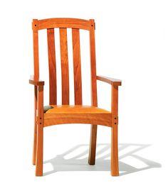 Arts & Crafts End Chair Highback - Berkeley Mills