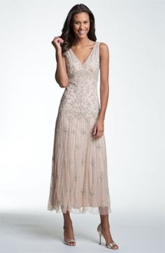 Pisarro Nights V-Neck Beaded Sequin Gown $178.0 by nordstrom