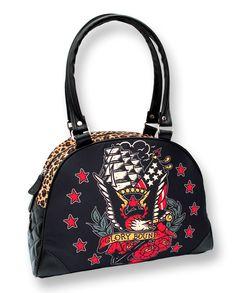 Liquor Brand Glory Bound Handbag  Rockabilly Tattoo Sailor