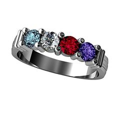 Mothers Ring 1 2 3 4 5 or 6 Birthstones 10k White or Yellow Gold or Sterling Silver Shared Prong Personalized Family Jewelry - http://www.spiritualgemstonejewelry.com/mothers-ring-1-2-3-4-5-or-6-birthstones-10k-white-or-yellow-gold-or-sterling-silver-shared-prong-personalized-family-jewelry/