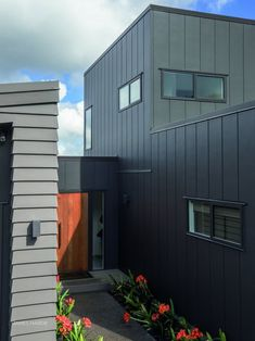 Stria™ Cladding by James Hardie House Cladding, House Siding, Exterior Siding, Exterior House Colors, Bed And Breakfast, Fibre Cement Cladding, External Cladding, Ultra Modern Homes, James Hardie