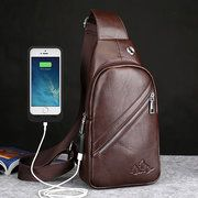 Ekphero Men Genuine Leather Shoulder Bag Vintage Chest Bags Crossbody Bags is worth buying - NewChic Mobile