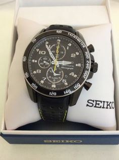 Seiko Sportura Black Dial Men's Watch Snae67