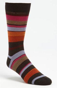 Lorenzo Uomo Stripe Dress Socks (3 for $27) available at #Nordstrom