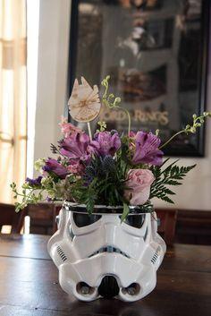Star Wars Wedding at Cloak and Blaster - Orange Blossom Bride Star Wars Wedding, Geek Wedding, Our Wedding, Dream Wedding, Wedding Blog, Wedding Stuff, Cute Wedding Ideas, Wedding Themes, Wedding Decorations