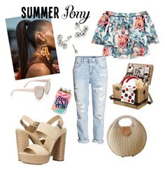 """""""Nina"""" by tmorris-tm on Polyvore featuring beauty, Picnic Time, STELLA McCARTNEY, Elizabeth and James, Michael Kors, hairtrend, 60secondstyle and summerpony"""