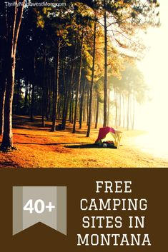 Check out these 40+ campground sites for free camping in Montana to save money on your camping trip Camping Places, Camping Spots, Tent Camping, Campsite, Outdoor Camping, Camping Tips, Hiking Tips, Camping Cabins, Backpacking Meals