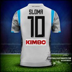 Koszulka SSC Napoli 2018/19 III numer 10 sloma Custom Football Shirts, Custom Shirts, Football Shirt Maker, Create Shirts, Shirt Store, Under Armour, How To Make, Tops, Custom Tailored Shirts