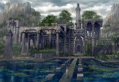 Garden Ruin with Lake