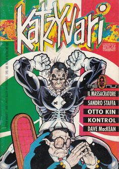 Katzyvari. Anno 1 Numero 2, aprile/maggio 1993 Bimestrale. Immagine di copertina di Stefano Piccoli Comic Books, Comics, Cover, Art, Craft Art, Comic Strips, Slipcovers, Kunst, Comic Book