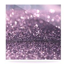 """Debbra Obertanec """"Lavender Sparkle"""" Purple Glitter Luxe Square Panel"""