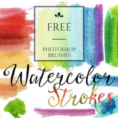 Free Watercolor washes and Strokes Photoshop Brushes http://www.aivault.com/2015/07/23/free-download-watercolor-strokes/
